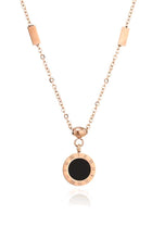 Load image into Gallery viewer, Emma Reversible Two Side Rose Gold Pendant Necklace