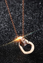 Load image into Gallery viewer, Jiwinci Heart Interlocking with Dias Necklace