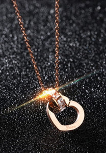 Jiwinci Heart Interlocking with Dias Necklace