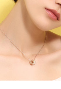 Colette with White Mother Pearl Rose Gold Necklace