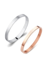 Load image into Gallery viewer, Amour Collection - Couple Personalized Closed Bangle