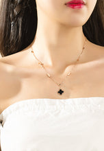 Load image into Gallery viewer, Adele Reversible Two Side Four Leaf Clover Link Chain Necklace
