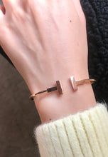 Load image into Gallery viewer, Antoinette Simple Slim Open Cuff Bangle in Rose Gold