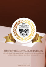 Load image into Gallery viewer, Titania Twin Stars ZIrconia Pendant in Rose Gold Chain Necklace