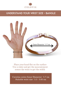 Caterina Mother of Pearl H Rose Gold Bangle