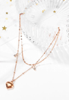 Devonne Mini Heart Drop Bijoux Pendant Bracelet in Rose Gold