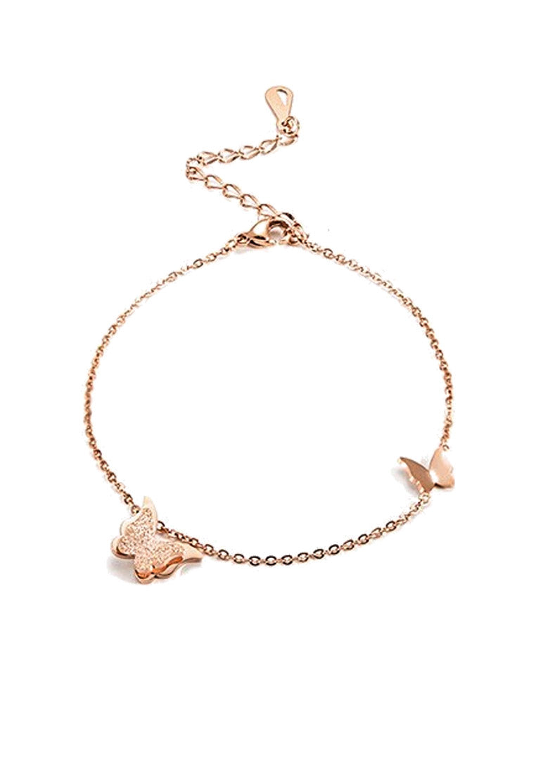 Queen Alexandra Butterfly Rose Gold Bracelet