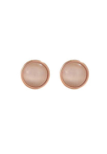 Lynx Regal Round Cat's Eye in Rose Gold Stud Earrings