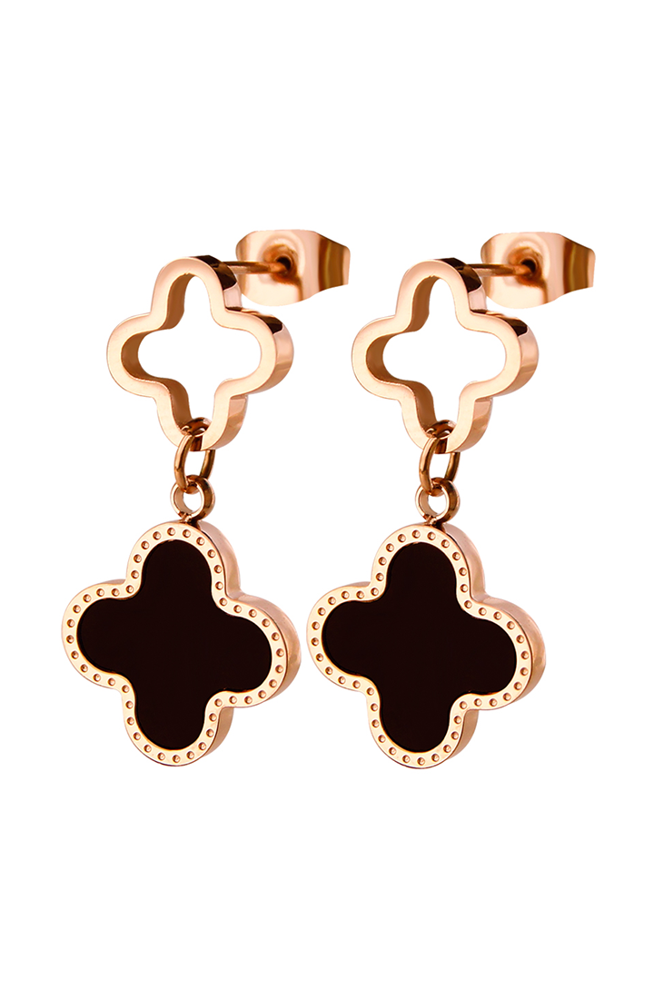 Adele Four Leaf Clover Drop Earrings