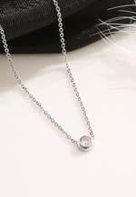 Lux Zirconia Bezel Solitaire Necklace
