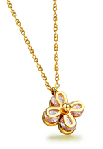 Cleo Clover Zirconia Petals Necklace