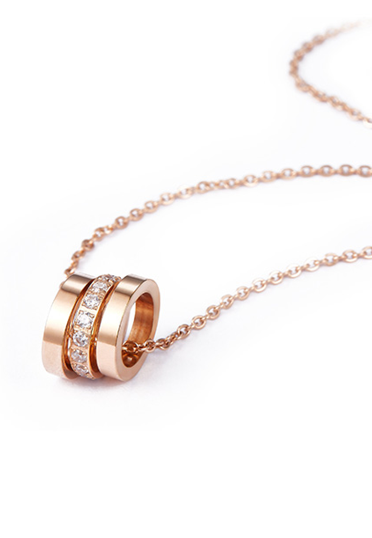 Lynne Three Rings Zirconia Necklace