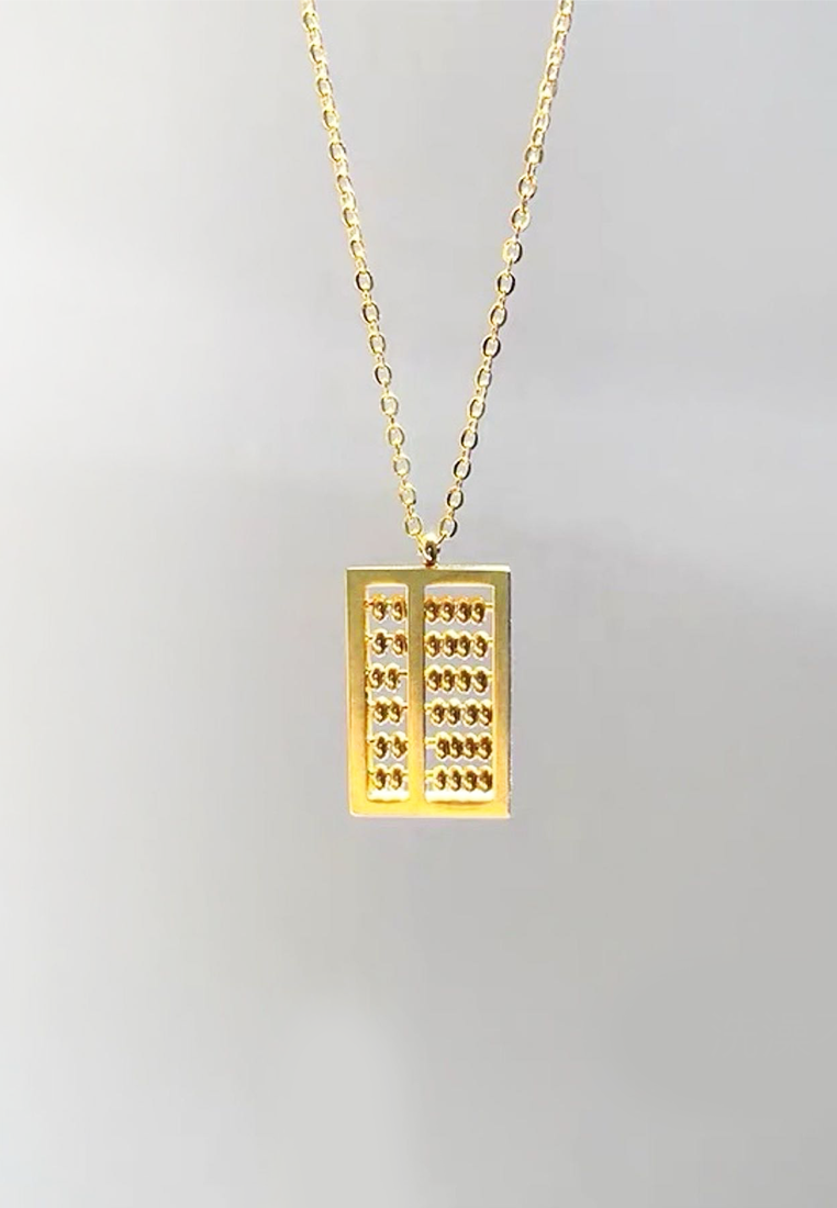 Fortune Mini Abacus Chain Necklace