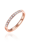 Diamante Cubic Zirconia Inset Single Band Ring