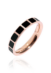 Jules with Square Tile Encrusted Rose Gold Ring