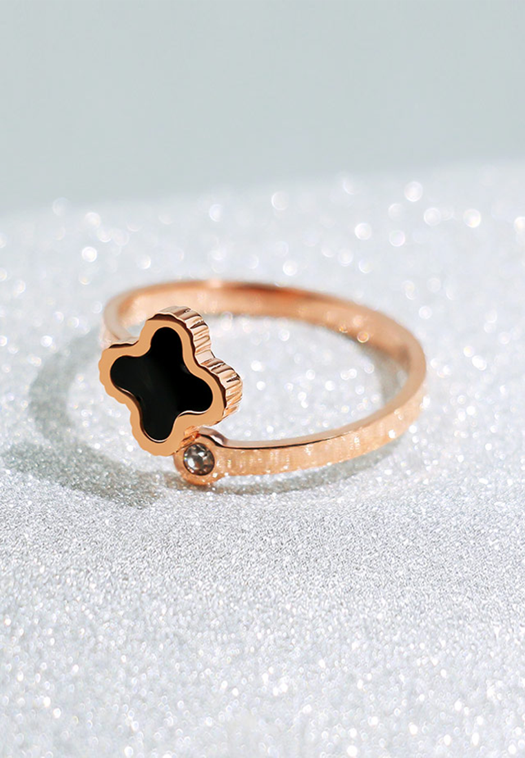 Adele Four Leaf Clover Adjustable Ring
