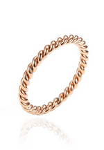 Edith Twisted Spiral Band Ring in Rose Gold
