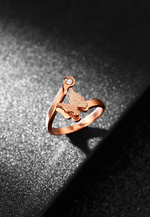 Queen Alexandra Butterfly Adjustable Ring in Rose Gold