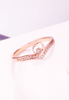 Princess Juliet Heart Tiara Ring in Rose Gold