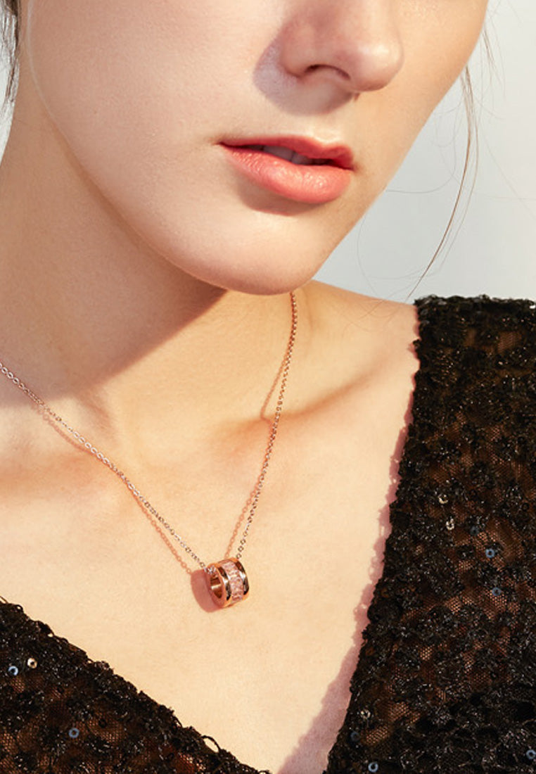 Oceane Cryolite Roman Numeric Necklace