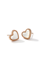 Esme Love Heart Stud Earrings