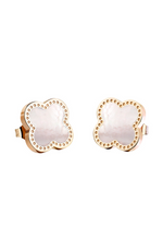 Adele Four Leaf Clover Stud Earrings