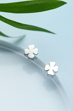 Destiny Dainty Four Leaf Clover Stud Earrings