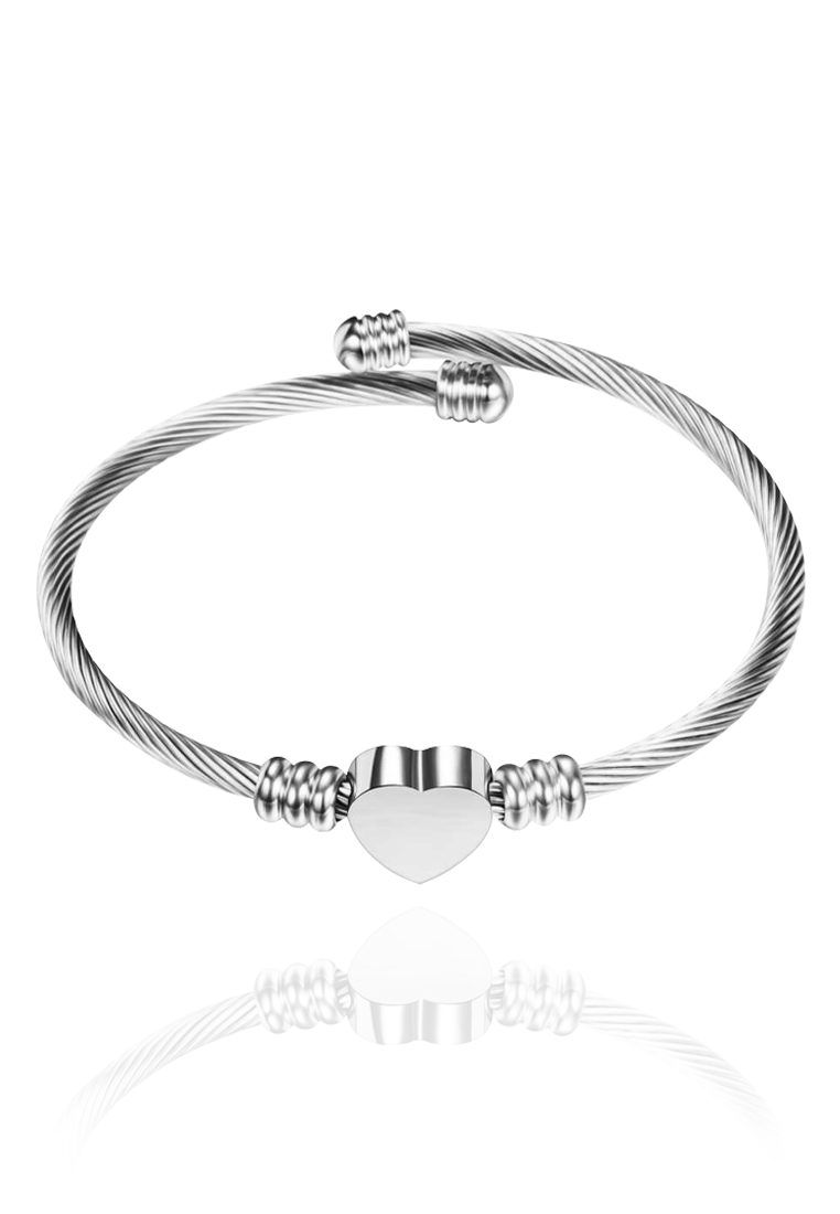 Hathaway Heart Cuff Bangle