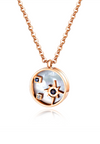 Astrid Celestial Necklace in Rose Gold