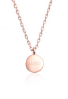 Lucky Round Charm Dainty Necklace