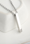 Sylver Vertical ID Bar Necklace in Silver (For Her)