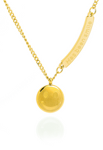 Smiley Round Pendant Necklace