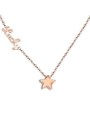 Aster Lucky Chain with Star Charm in Rose Gold Chain Necklace
