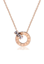 Load image into Gallery viewer, Athena Classic Interlocking Roman Numeral Necklace