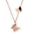 Queen Alexandra Butterfly Rose Gold Necklace