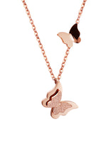 Load image into Gallery viewer, Queen Alexandra Butterfly Rose Gold Necklace