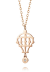 PREMIUM EDITION - Hot Air Balloon with Genuine 0.005 Ct Diamond Rose Gold Necklace