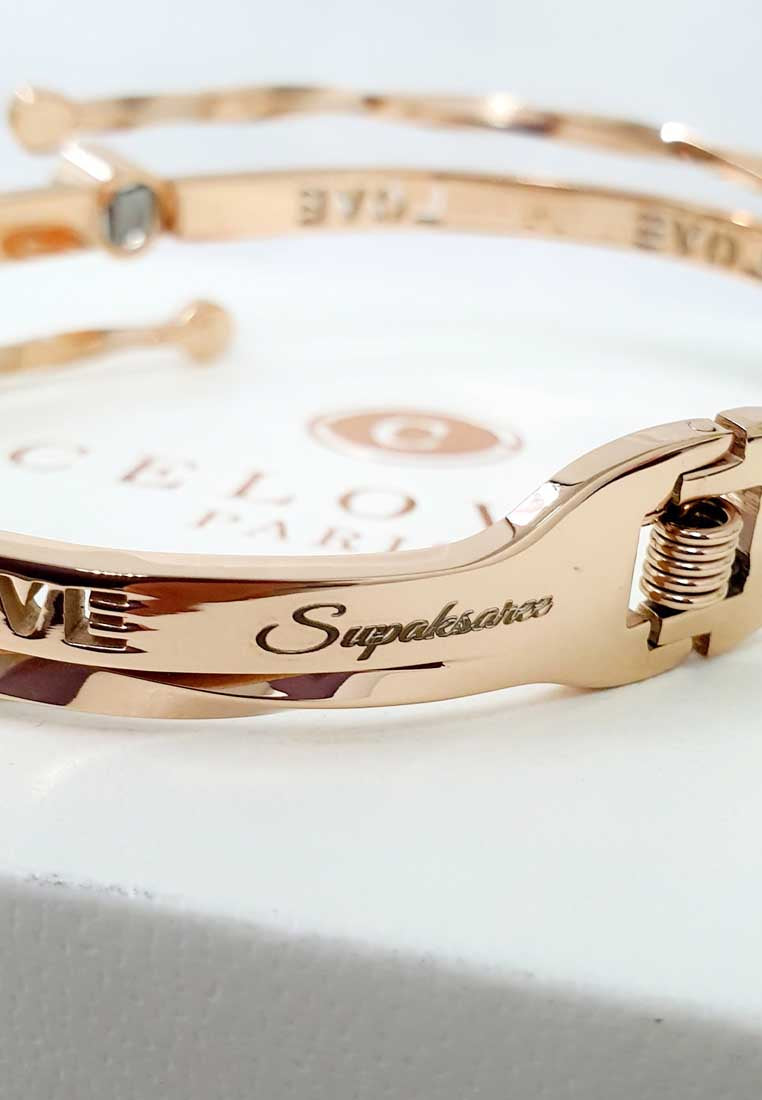 "Fayre ""I Love You"" in 100 Languages Projection Bangle"