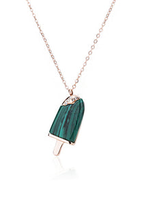 Creamsicle Green Ice-Cream Pendant Necklace