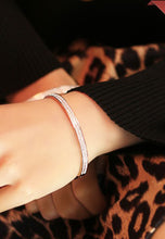 Load image into Gallery viewer, Layla Dua-Row Dias Rose Gold Bangle