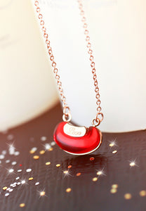 """Always Missing You"" Red Bean Love Necklace"