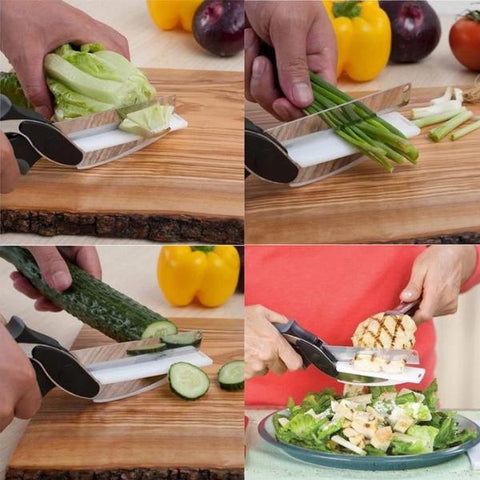 2-in-1 Knife and Cutting Board Smart Chopper