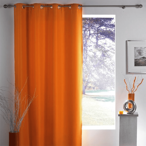 Woven Copper Grommet Solid Color Curtains - Assorted Colors!