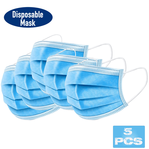 5 Pieces Disposable Face Mask