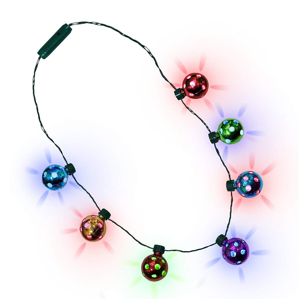 LED Christmas Lights Holiday Party Necklace for Kids and Adults