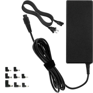 8upsell - ONN Universal Laptop Charger With 7 Interchangeable Notebook Tips, LED Display & Auto Search Function