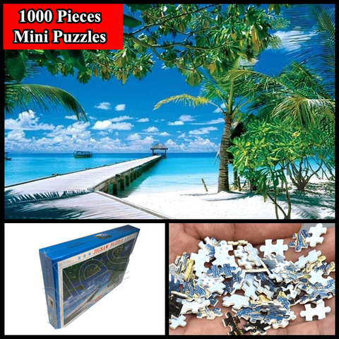 """Beach"" 1000 Pieces Mini Jigsaw Puzzles"