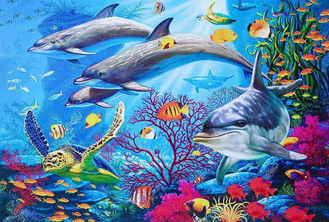"""DOLPHINS"" - 1000 Pieces Jigsaw Puzzle"