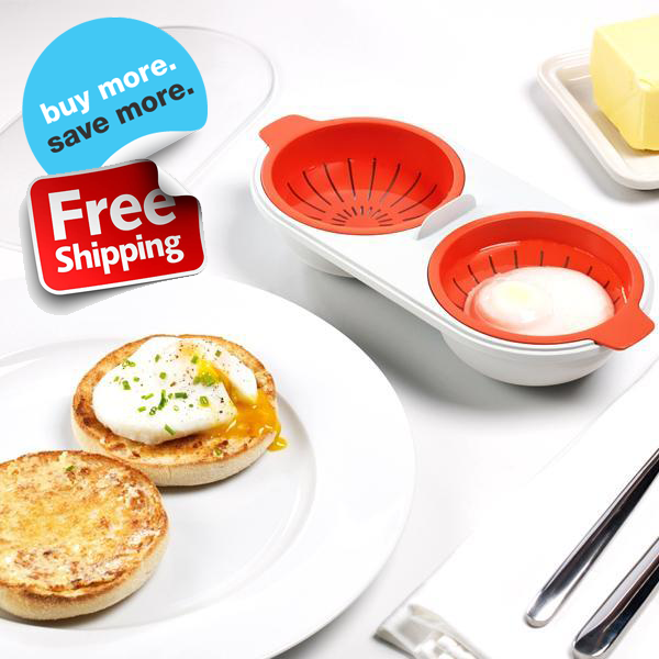 Perfectly Poached Double Egg Cooker - FREE SHIPPING For A Limited Time Only!