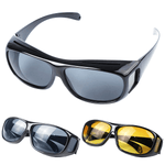 2 Pairs: Day & Night Clear Vision Driving Glasses